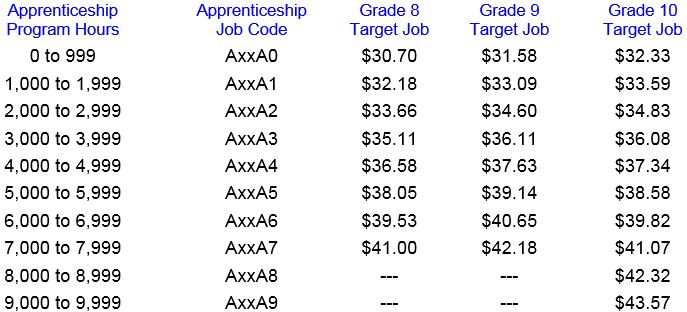 apprentice pay rates